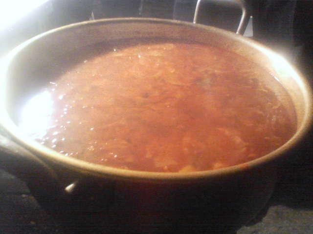 今日のスープはチゲ☆